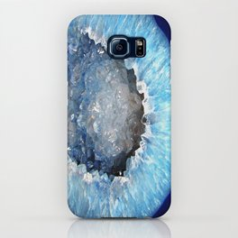 Blue Crystal Geode iPhone Case
