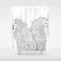 couple Shower Curtains featuring Couple by Jevgenia Maslennikova