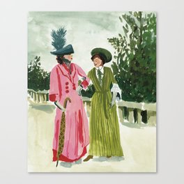 Fancy Ladies Canvas Print