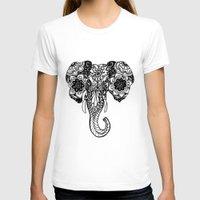 henna T-shirts featuring Henna Elephant by Kaitlyn Koehn