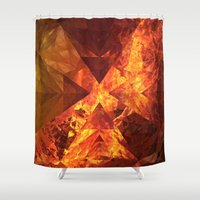 lotr Shower Curtains featuring Into Mount Doom by Lyle Hatch