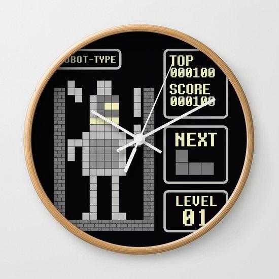 TETRIS: Robot Type Wall Clock