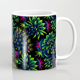Cactus Floral - Bright Green/Pink Coffee Mug