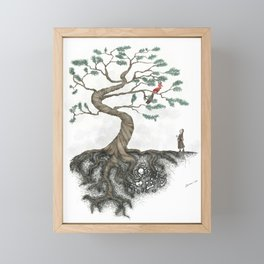 His Sister Buried All his Bones under the Juniper Tree (color) Framed Mini Art Print