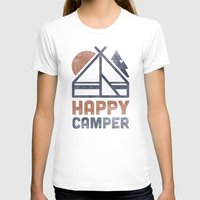 backpack T-shirts featuring Happy Camper by Zeke Tucker