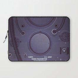 Vintage US Army Radio Transmitter Laptop Sleeve
