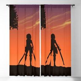 Attack On Titan Levi Eren Mikasa Blackout Curtain