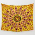 Lovely healing sacred Mandalas in yellow, orange, gold and red with a hint of white by exceptionalsilks