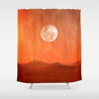 desert Shower Curtains featuring Desert by Viviana Gonzalez
