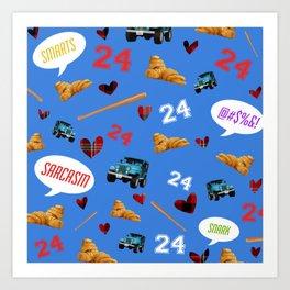 Stilinski Love Pattern Art Print