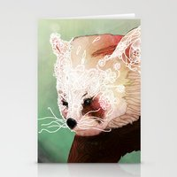 red panda Stationery Cards featuring Red Panda by Ben Geiger