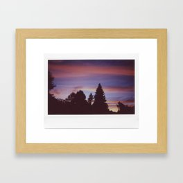 Instax Sunset Framed Art Print