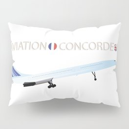 Concorde Turbojet-powered Supersonic Airliner Pillow Sham