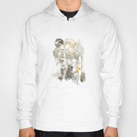 volleyball Hoodies featuring volleyball kiss by Puckboum