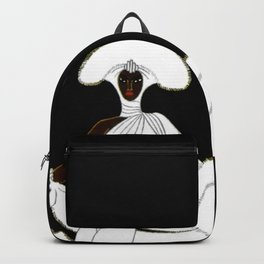 "Art Deco Design ""Ebony and White"" Backpack"