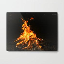 Bonfire (lohri) Metal Print
