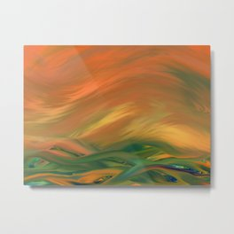 Sunset over the sea of worries Metal Print