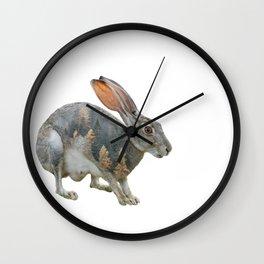 Hare Double Exposure Wall Clock