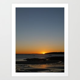 Sunset at Crescent Beach Art Print