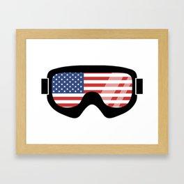 USA Goggles   Goggle Designs   DopeyArt Framed Art Print