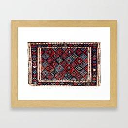 Jaff Kurdish West Persian Bag Face Print Framed Art Print
