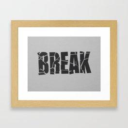 Broken Word Framed Art Print