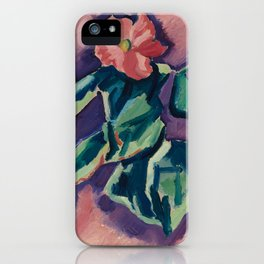 Pink Begonias by Marsden Hartley iPhone Case