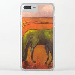 Dark Horse Clear iPhone Case
