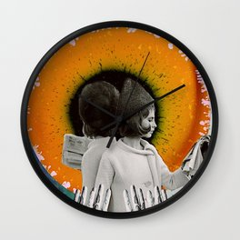 We Live In Islands Made Of Hours Wall Clock