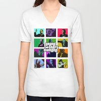 snatch V-neck T-shirts featuring Grand Theft Diamond Snatchers by Ant Atomic