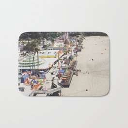 Santa Cruz Boardwalks Aerial View Bath Mat