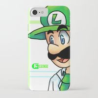 luigi iPhone & iPod Cases featuring Dr. Luigi by Kirafrog