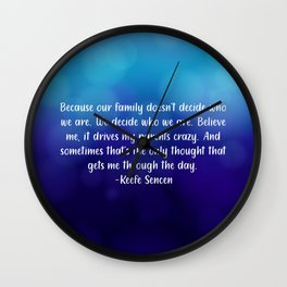 Keefe Quote Wall Clock
