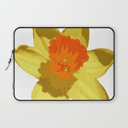Spring Daffodil Vector Isolated Laptop Sleeve
