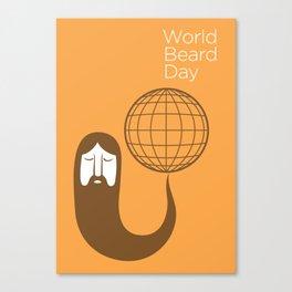The Beards ~ World beard day poster Canvas Print