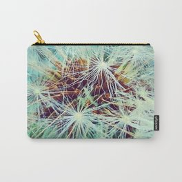 Dandelion in Turquoise Carry-All Pouch