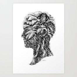 Portrait of Winter Art Print