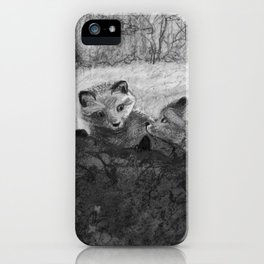 Fox Kits Sketch iPhone Case