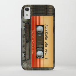 awesome transparent mix cassette tape vol 1 iPhone Case