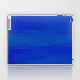 Subtle Cobalt Blue Waves Pattern Ombre Gradient Laptop & iPad Skin