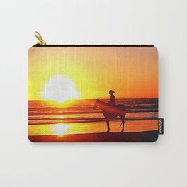 Riding on the Beach Carry-All Pouch