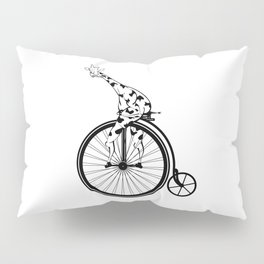 Giraffe Riding A Penny-Farthing Bicycle Pillow Sham