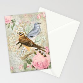 Vintage birds Stationery Cards