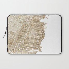 Hoboken New Jersey city map Laptop Sleeve