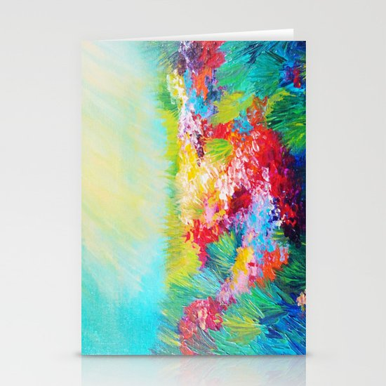 ETHERIAL DAYS - Stunning Floral Landscape Nature Wildflower Field Colorful Bright Floral Painting Stationery Cards