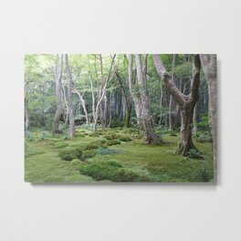 JAPANESE FOREST Metal Print