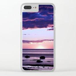 Coastal Sunset Sainte-Anne-Des-Monts Clear iPhone Case