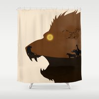 simba Shower Curtains featuring The Lion King by Rowan Stocks-Moore