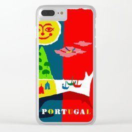 Portugal Fun in the Sun Travel Clear iPhone Case
