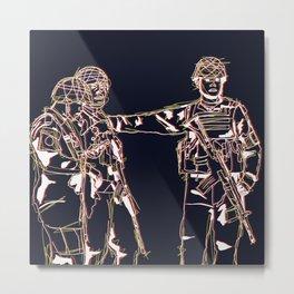 Tres Soldados Metal Print